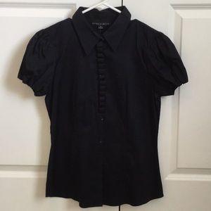 NWT Antonio Melani navy blouse, szM